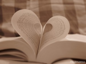 Book with pages forming a heart