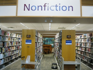 Nonfiction stacks in a library